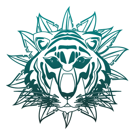 Beautiful tiger head vector illustration graphic design
