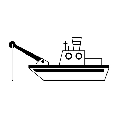 Fishing boat isolated vector illustration graphic design