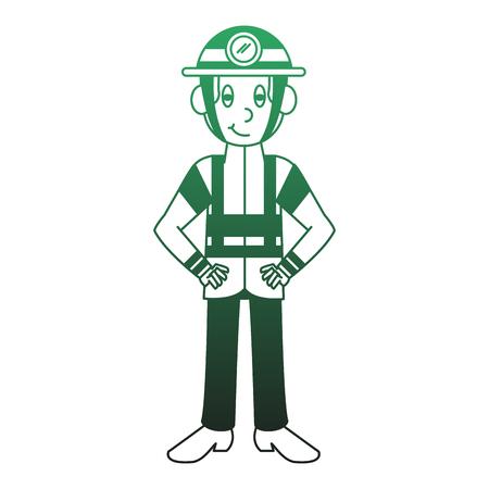 Firefighter male cartoon vector illustration graphic design Illustration