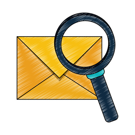 Mail with magnifying glass vector illustration graphic design 矢量图像