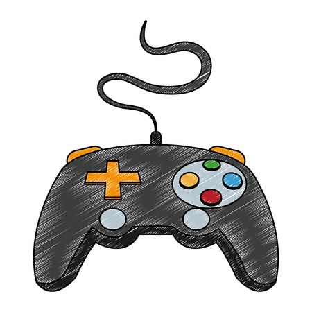 Console gamepad isolated vector illustration graphic design