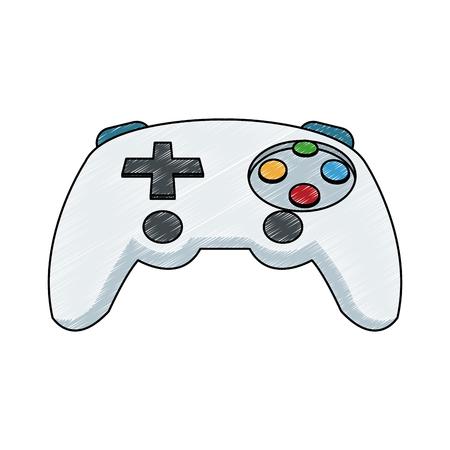 Console gamepad isolated 일러스트