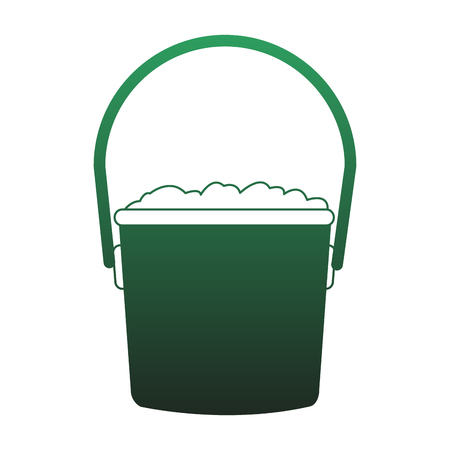 Bucket with soil vector illustration graphic design vector illustration graphic design