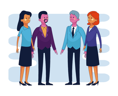 Business executive people cartoons vector illustration graphic design Illustration