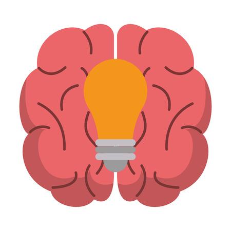 Brain and big idea vector illustration graphic design