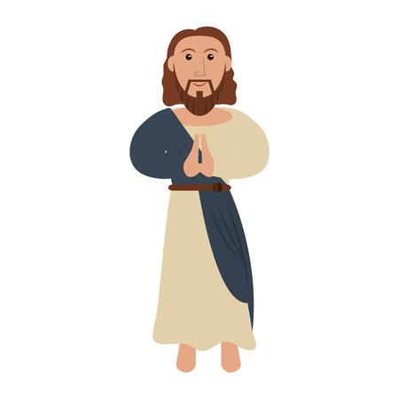 Jesus Christ cartoon isolated vector illustration graphic design