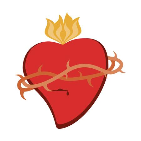 Catholic sacred heart symbol vector illustration graphic design Standard-Bild - 103979551