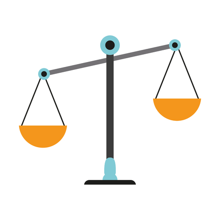 Justice balance symbol vector illustration graphic design