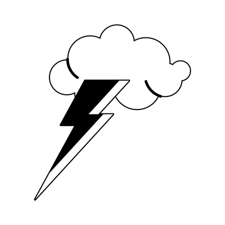 Cloud and ray weather symbol vector illustration graphic design