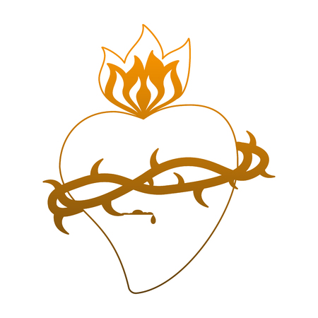 Catholic sacred heart symbol vector illustration graphic design Standard-Bild - 103979934