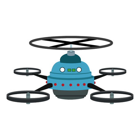 RC drone isolated vector illustration graphic design
