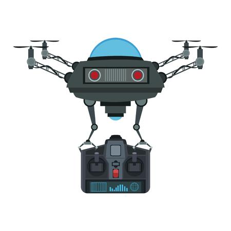 Drone remote control vector illustration graphic design