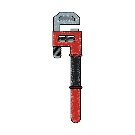 Adjustable wrench tool vector illustration graphic design