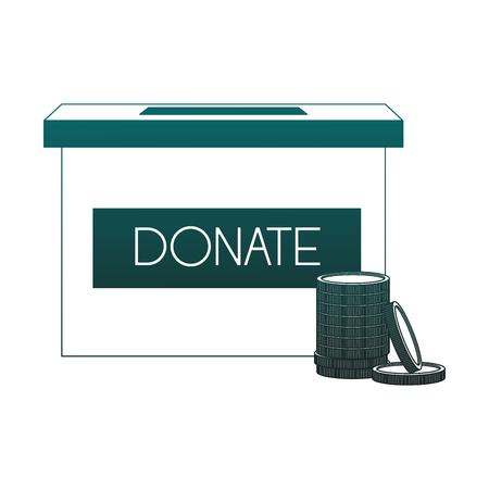 Coind donate box vector illustration graphic design