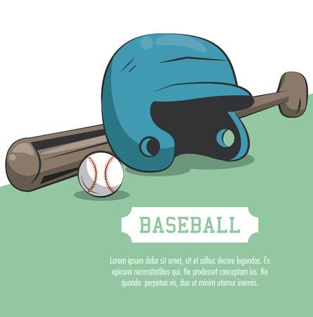 Baseball sport poster with information vector illustration graphic design