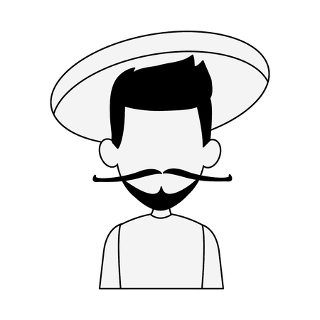 Asian Man cartoon isolated vector illustration graphic design
