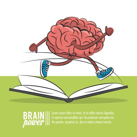 Plantilla de cartel de energía cerebral con diseño gráfico de ilustración de vector de información