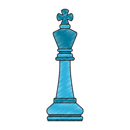 Disegno grafico dell'illustrazione di vettore del pezzo del gioco di scacchi Vettoriali