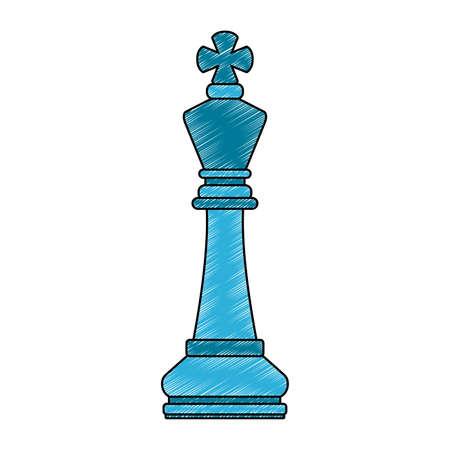Grafikdesign der Schachspielstückvektorillustration Vektorgrafik