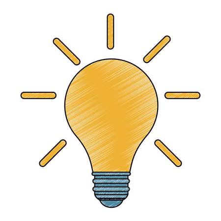 Bulb light on vector illustration graphic design