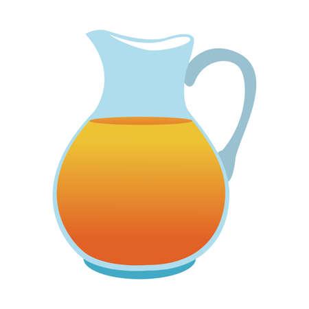 Orange juice jar vector illustration graphic design