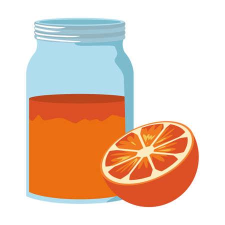 Orange juice cup vector illustration graphic design Illustration