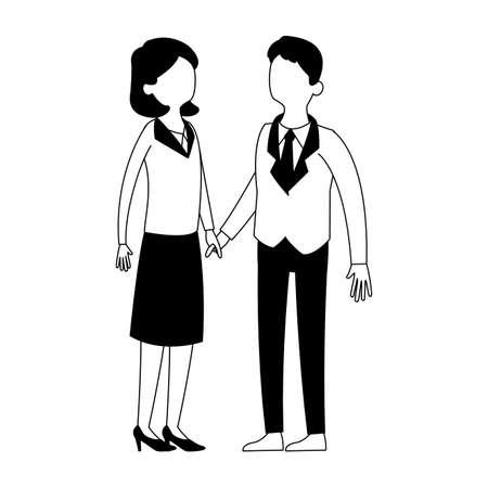 Cute and elegant couple vector illustration graphic design