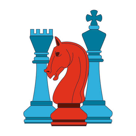 Chess game pieces vector illustration graphic design