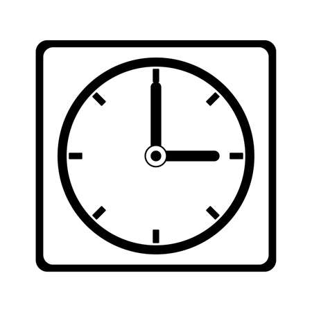 Wall clock isolated vector illustration graphic design