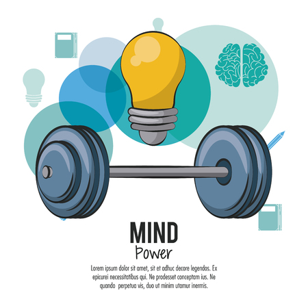 Mind power and brain template with information vector illustration graphic design Illustration