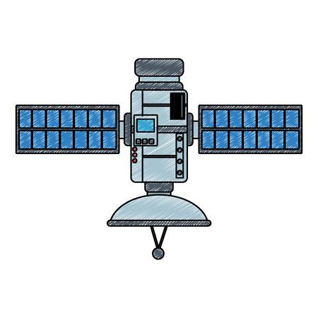 Space satellite technology vector illustration graphic design