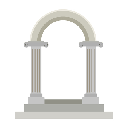 Wedding columns gate vector illustration graphic design Illustration