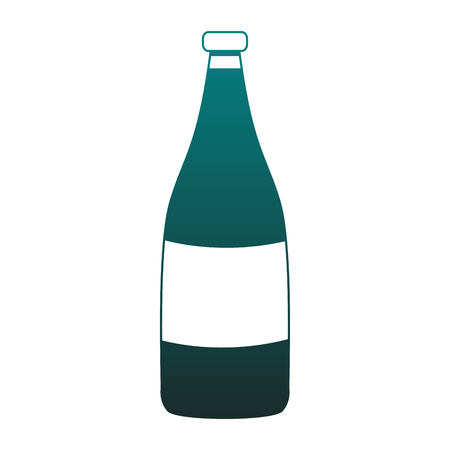 Champagne bottle isolated vector illustration graphic design Illustration