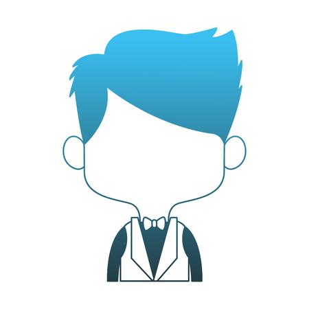 Groom midget cartoon vector illustration graphic design