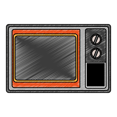 Small oven kitchen appliance vector illustration graphic design