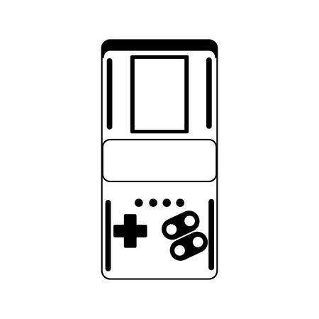 Retro videogame console portable vector illustration graphic design Illustration