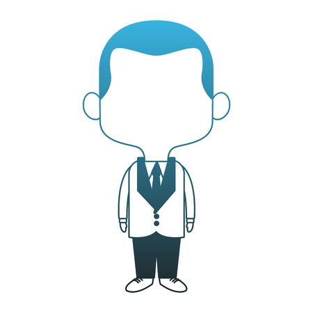 Midget businessman cartoon vector illustration graphic design Vettoriali