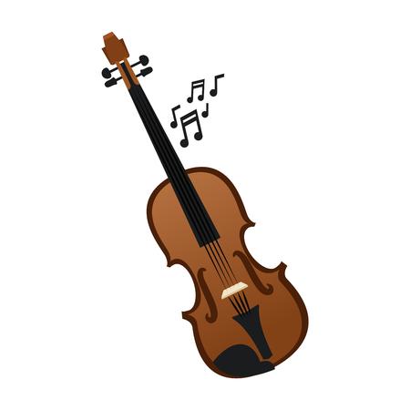 Violin music instrument vector illustration graphic design Vettoriali