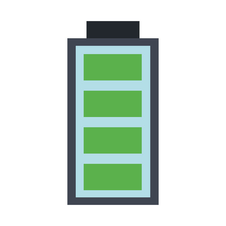 Rechargeable battery symbol vector illustration graphic design