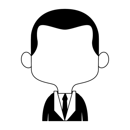 Midget businessman cartoon vector illustration graphic design Illustration