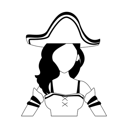 Woman pirate costume vector illustration graphic design Banque d'images - 105205105