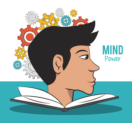 Mind power and intelligence cartoons elements vector illustration graphic design