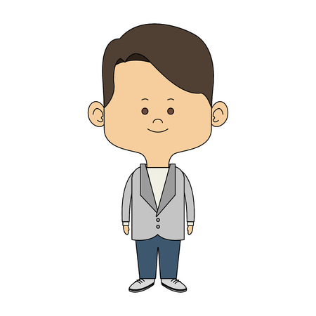Cute midget man cartoon vector illustration graphic design Illustration