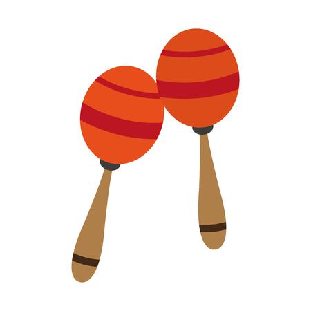 Maracas music instrument vector illustration graphic design Vector Illustration