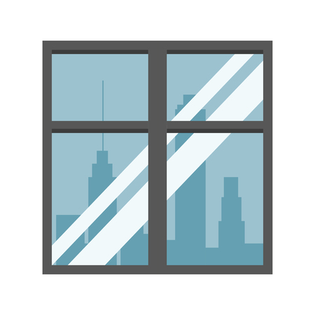 Window with cityscape view vector illustration graphic design Illustration