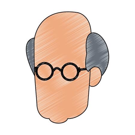 Conception graphique d'illustration vectorielle tête sans visage homme
