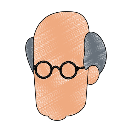 Man faceless head vector illustration graphic design