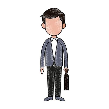 Businessman exectuive avatar cartoon vector illustration graphic design