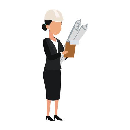 Femme architecture avatar vector illustration graphisme Vecteurs
