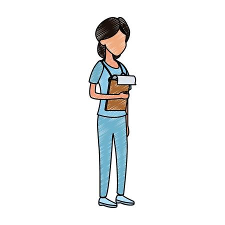 Woman doctor avatar vector illustration graphic design